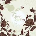 Love Flowers Elegant Card in Japanese Style, SPA Royalty Free Stock Image