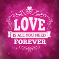 Love Forever Greeting Card Wit...
