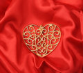 Love forever heart shape on red Royalty Free Stock Photo