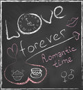 Love forever and Romantic time concept hand drawn