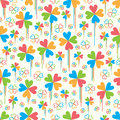 Love four season color drop seamless pattern Royalty Free Stock Photo