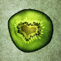 Love in a fruit fresk kiwi fruit texture Royalty Free Stock Images