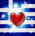 Love Greece flag heart background Royalty Free Stock Photography