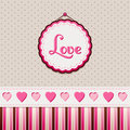 Love greeting card vintage background Stock Photo