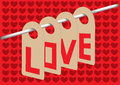 Love hanging in the airs message of air best for valentine s day vector illustration Stock Photos