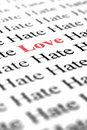 Love among hate Stock Photos