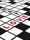 Love and hate illustration of a conceptual crossword puzzle about vertical eps vector Royalty Free Stock Photography