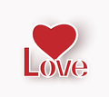 Love heart abstract valentines day s and text of eps Royalty Free Stock Photos