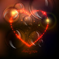 Love heart background from beautiful bright stars Royalty Free Stock Photo