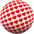 Love heart ball Stock Photos