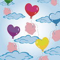 Love heart balloon background Royalty Free Stock Images