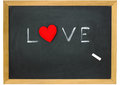 Love heart on a chalkboard Royalty Free Stock Images