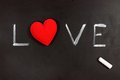 Love heart on a chalkboard Royalty Free Stock Photography