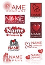 Love heart company logos Stock Images