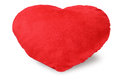 Love heart cushion on white background Royalty Free Stock Photo