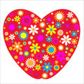 Love Heart flowers Royalty Free Stock Photos