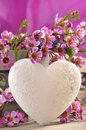 Love heart and flowers Stock Photography