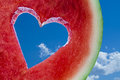 Love heart fruit Royalty Free Stock Photo