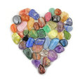 Love Heart Healing Crystals Royalty Free Stock Photo