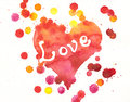 Love heart painting Stock Image