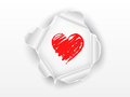 Love heart paper white background Royalty Free Stock Photos