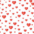 Love heart seamless pattern Stock Photos