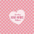 Love Heart Seamless Pattern on Romantic Pastel Color. Vector Illustration. Royalty Free Stock Photo