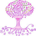 Love Heart Tree Vector Royalty Free Stock Photo