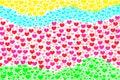 Love heart valentine background