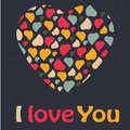 Love heart valentines day greeting card trendy col colors romantic relationship concept in vector Stock Photos