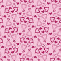Love heart vector seamless pattern Stock Photo