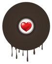 Love Heart in Vinyl Royalty Free Stock Photo