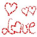 Love hearts Stock Image