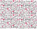 Love and Hearts Background Pattern