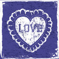 Love hearts over blue background vector illustration Stock Photography