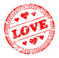 Love and Hearts Rubber Stamp Stock Photography