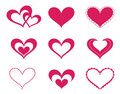 Love hearts set Royalty Free Stock Photo