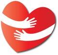 Love hug heart Royalty Free Stock Photo