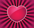 Love icon rays heart design adobe illustrator eps transparency heart is grouped separately Stock Photography