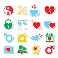 Love icons Stock Photography