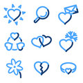 Love icons Royalty Free Stock Image