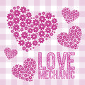 Love icons illustration of illustration of hearts vector illustration Royalty Free Stock Photos