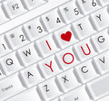 Love icons illustration of keyboard with message illustration of vector illustration Royalty Free Stock Photography