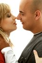 In love intimate picture of sweet couple Royalty Free Stock Image
