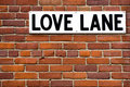 Love lane Royalty Free Stock Images