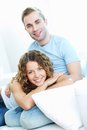 Love and leisure vertical image of young lovers being at Stock Photos