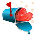 Love letter concept open mailbox with hearts vector icon isolated on white background Stock Photos