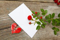 Love letter with florets and a broken heart Stock Photos