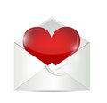 Love letter illustration design over a white background Royalty Free Stock Photography