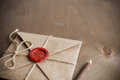 Love Letter and pencil Royalty Free Stock Photo